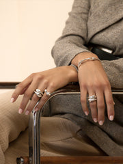 EVA DOUBLE SET RINGS STERLING SILVER