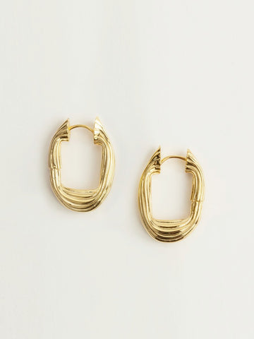 Flō Earrings Vermeil