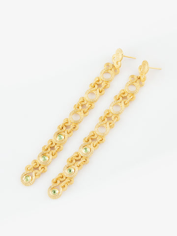 COCO Earrings Vermeil (Peridot)