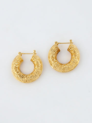 Heritage Hoop Earrings Vermeil