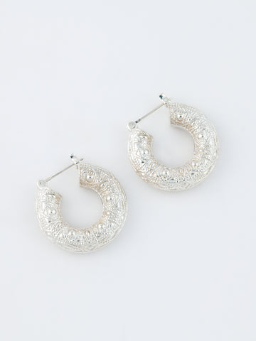 Heritage Hoop Earrings Silver