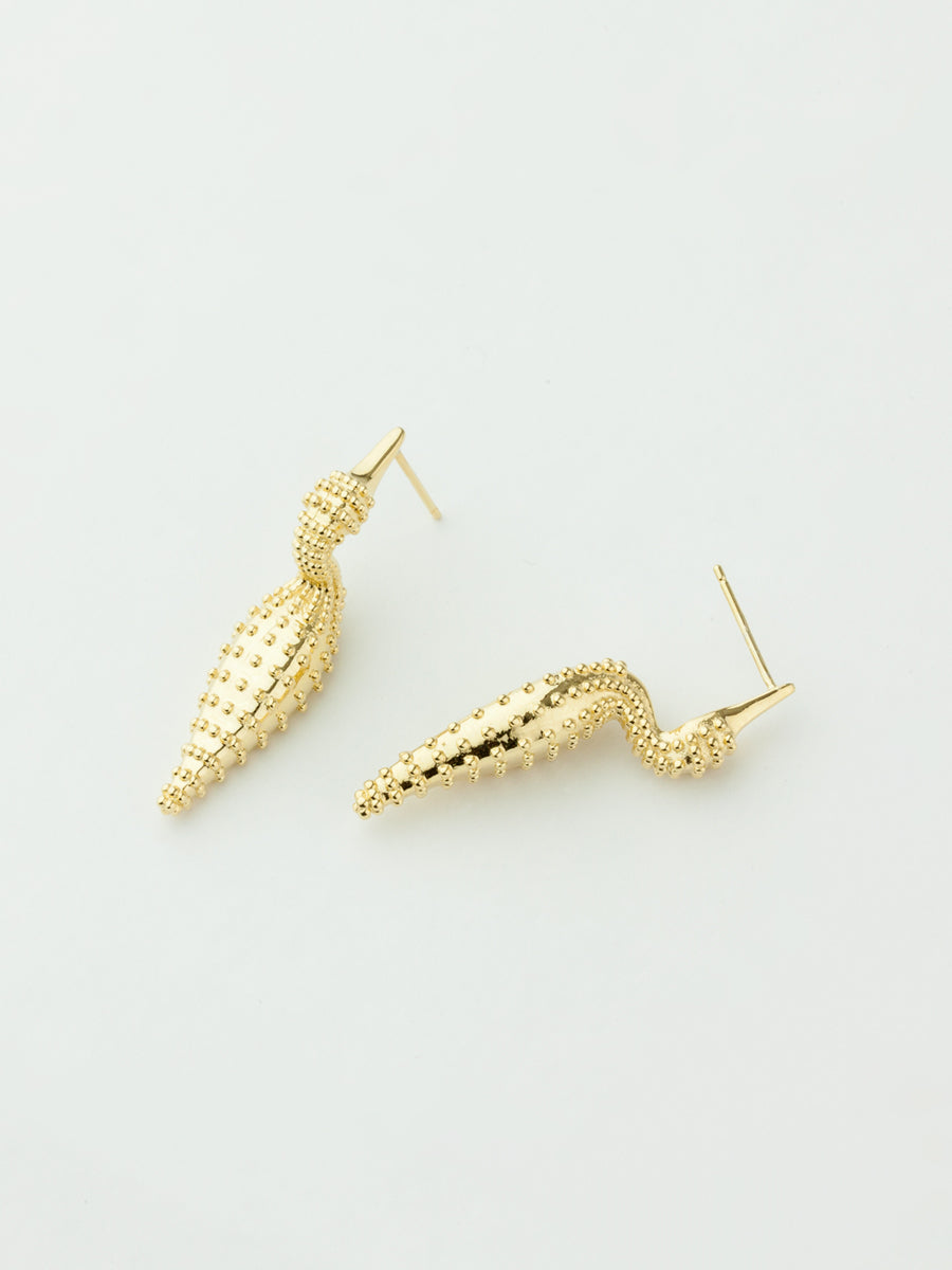 Monarch Duck Earrings Gold