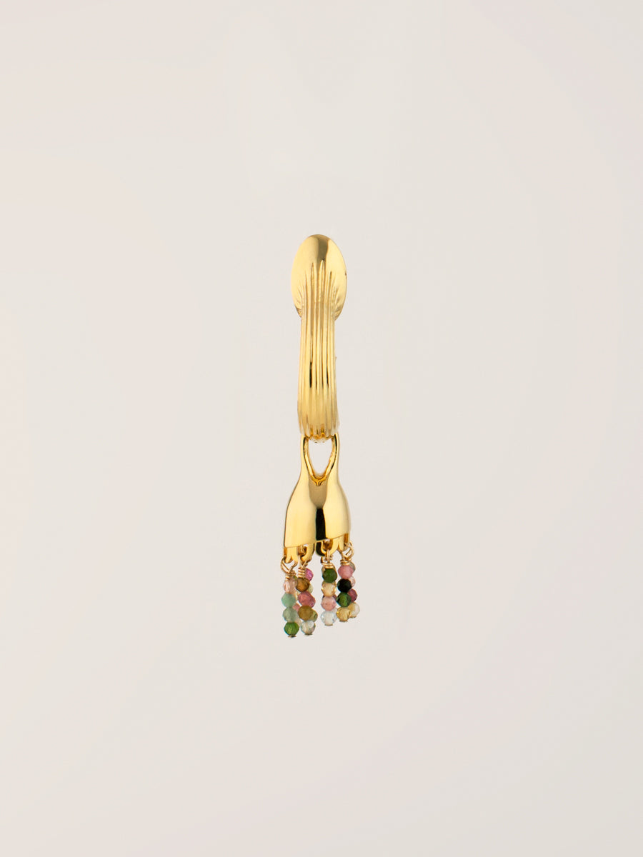 Riya Gemstone Earrings Vermeil