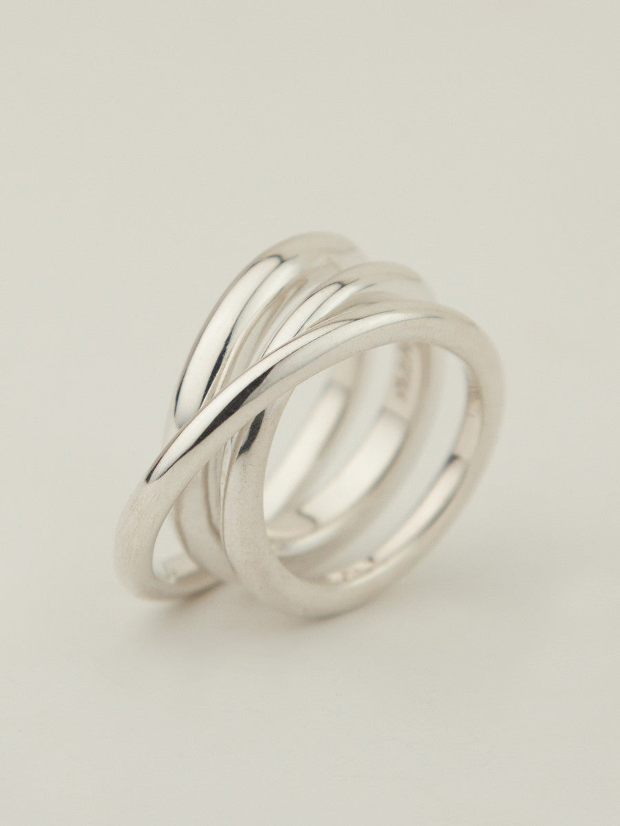 Trois Ring Sterling Silver