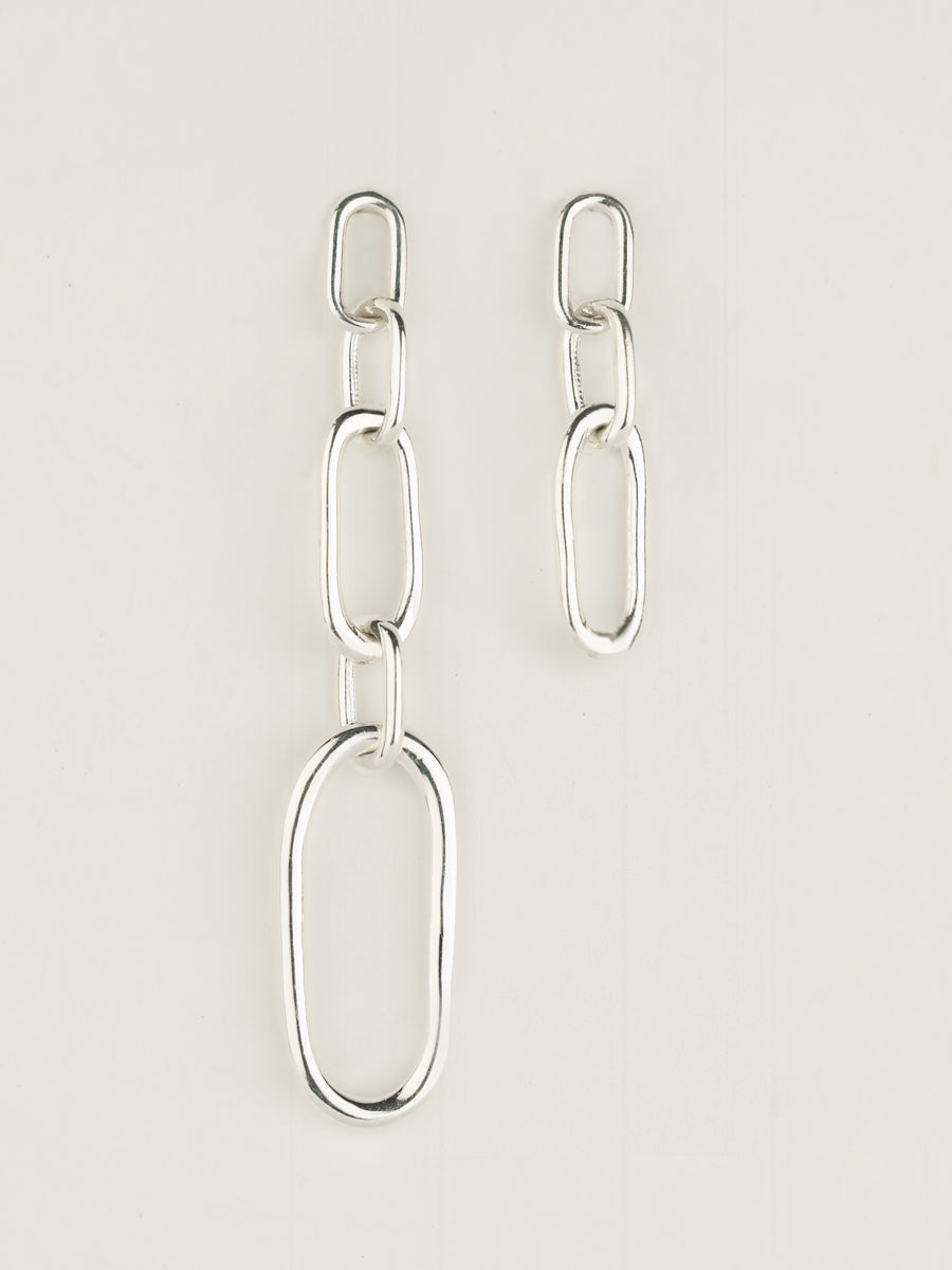 COMMON LINK EARRINGS STERLING SILVER