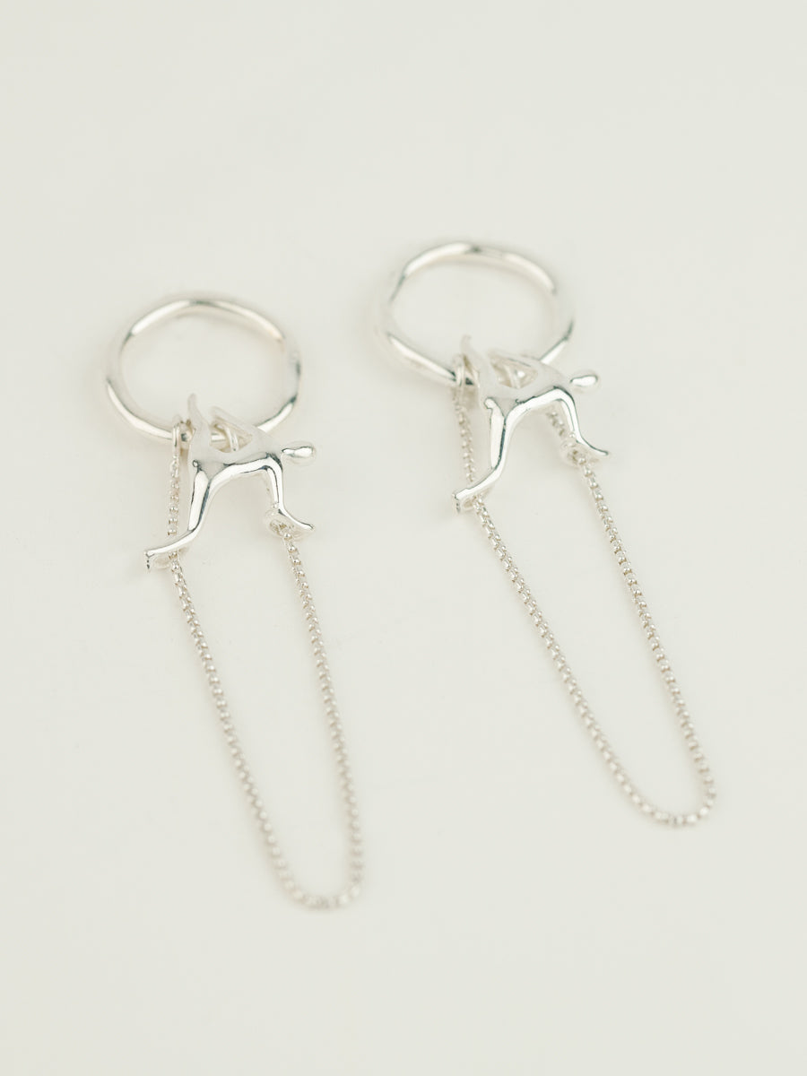 POSITION V EARRINGS STERLING SILVER