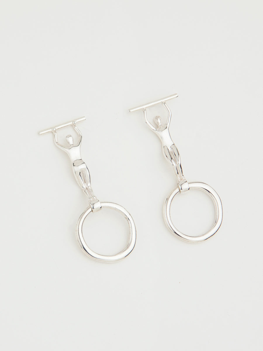 POSITION X EARRINGS STERLING SILVER