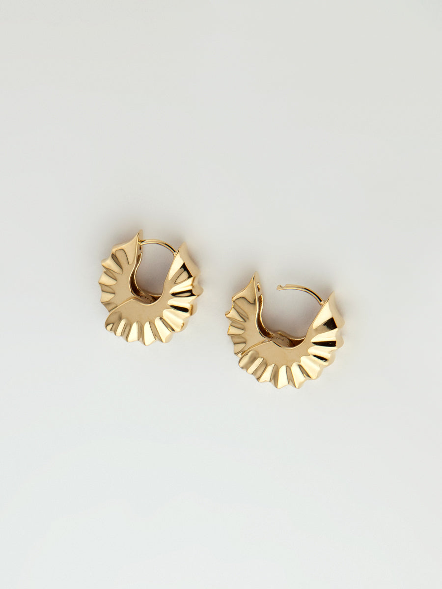 Edo Earrings Sterling Vermeil