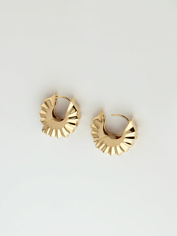 Teja Hoops Small Vermeil