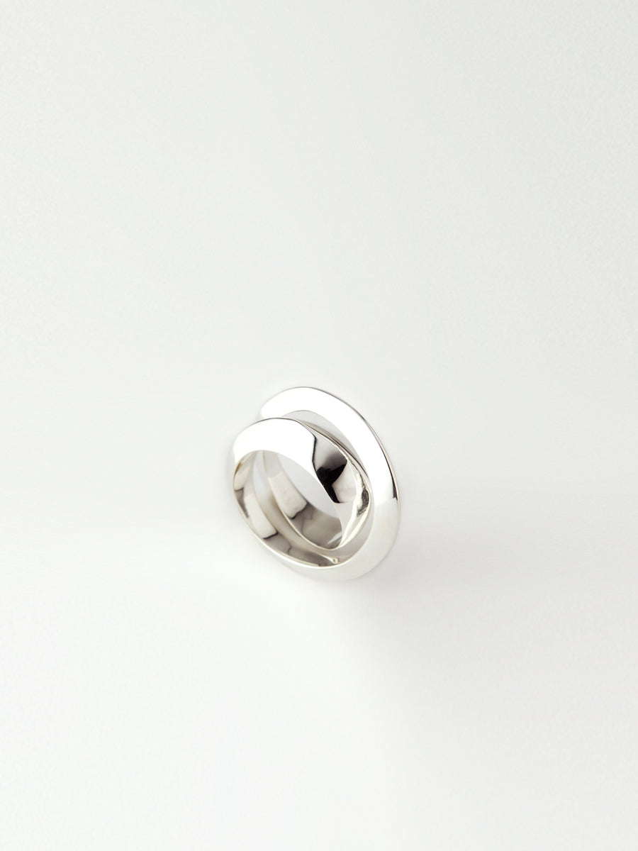 Deux Ring Sterling Silver