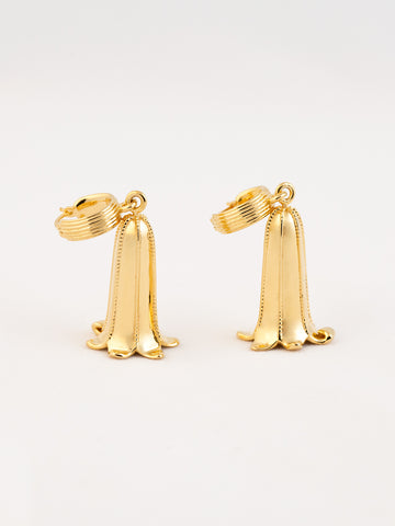 Blue Bell Hoop Earrings Vermeil