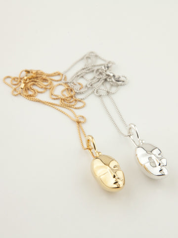 Sleeping Muse Necklace Vermeil