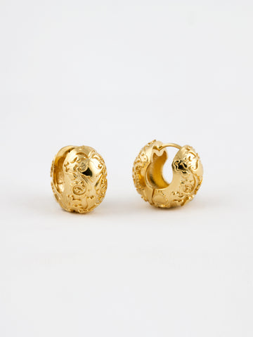 Polished Duck Earrings Vermeil