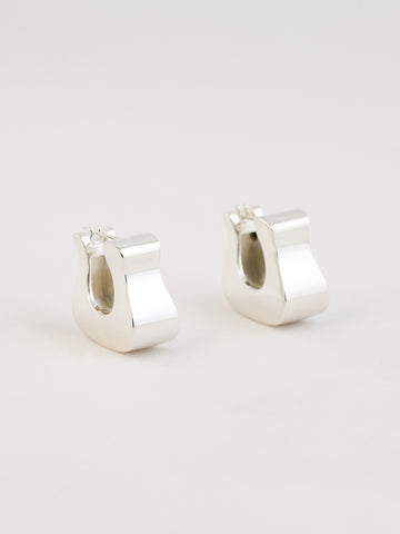 Hoof Earrings Sterling Silver