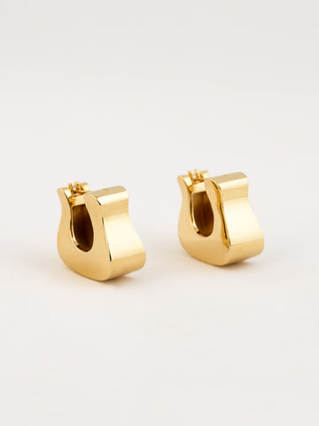 Hoof Earrings Vermeil