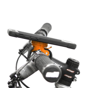 bike handlebar phone mount in red