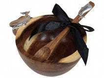 Load image into Gallery viewer, Acacia Bowl & Spoon Turtle/Palm/Whale/Shell
