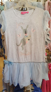 Kangaroo Grey Girls Dress