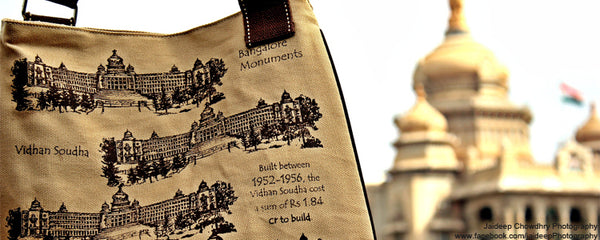 The Vidhan Soudha bag clicked in front of the Vidhan Soudha in Banaglore !