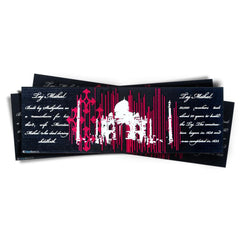 Taj Mahal / Agra Souvenir, Taj Decoration Bookmark - black