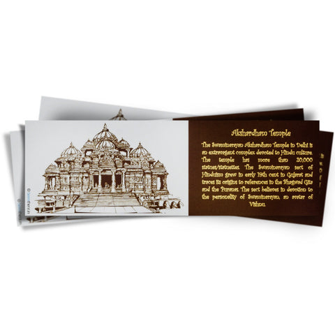 Akshardham Temple Bookmark