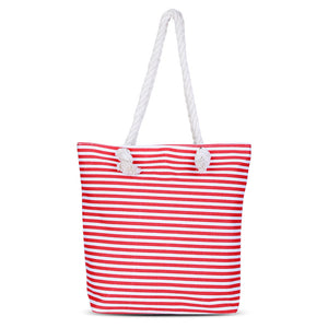 Casual Canvas Striped Handbag, Handbag, eprolo - MAK Kouture