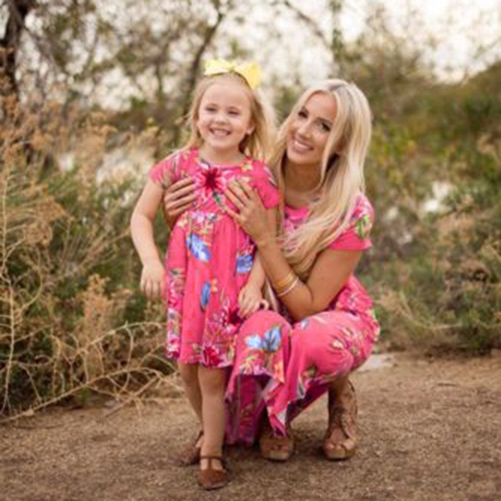 Mommy And Me Floral Print Sundresses, , eprolo - MAK Kouture