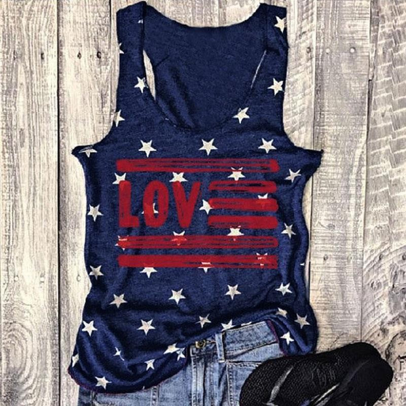2019 Women Navy Blue Plus Size 3xl Basic Top Casual Sleeveless Tee Fashion Summer Femme Letter Printed Harajuku kawaii Tank New