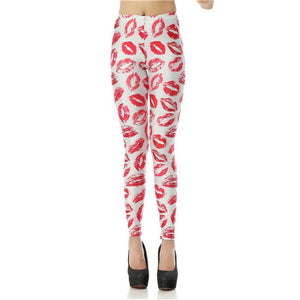 Women's Leggings (Assorted Lips, Burgers, & More