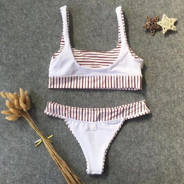 Plural Striped Swimsuit, Women's Clothing, Mylo - MAK Kouture