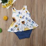 Girls Sweet Sunflower Outfit, girls clothing, MAK Kouture - MAK Kouture