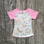 Girl's Light Pink Summer Unicorn T-Shirt (12m-8 years), girl's clothing, MAK Kouture - MAK Kouture