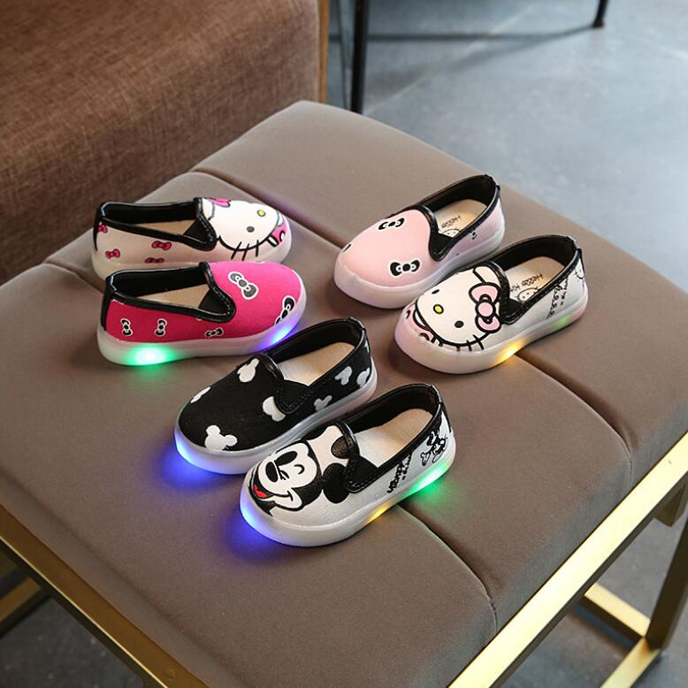 Kid's Light Up Cartoon Shoes, kids shoes, MAK Kouture - MAK Kouture