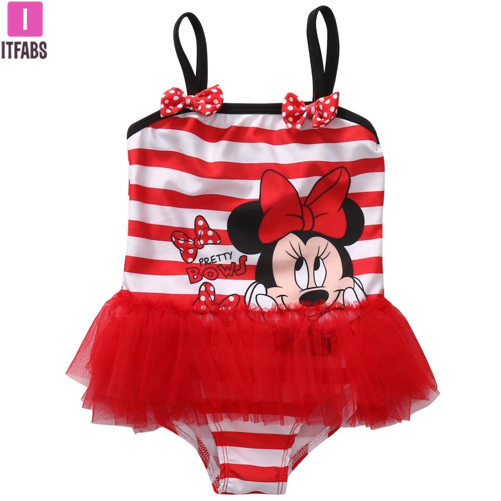 Girl's Tutu Cartoon Mouse Swim Suit (12m-7Y), Girl's Bathing Suit, MAK Kouture - MAK Kouture