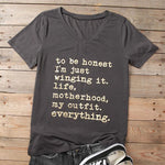 Mom's New Casual Wingin' It All T-Shirt, women's t-shirt, MAK Kouture - MAK Kouture