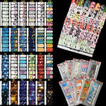 6 PACKS of 14 Decorative Full Nail Wrap Stickers SETS, YES you read that right!, nail wraps, MAK Kouture - MAK Kouture