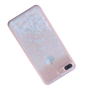 SALE! 50% OFF! iPhone 7 Plus/8 Plus Cover Light Pink Snowflake Glitter Powder Liquid Quicksand Case Protector PC Shockproof Hard Shell, phone case, MAK Kouture - MAK Kouture
