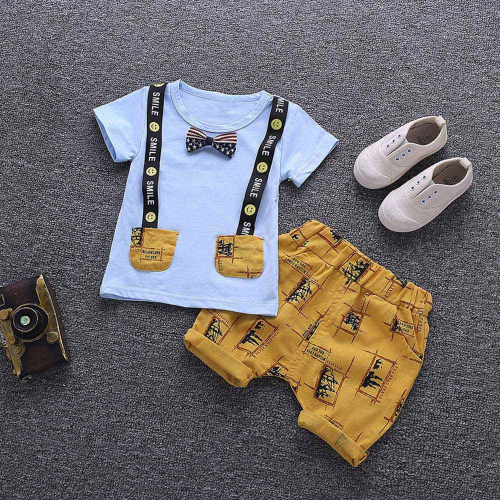 Boys Fancy Lil' Lad Suspender Tops+Pants Outfits Clothes Set (12M-3T), boys clothes, MAK Kouture - MAK Kouture