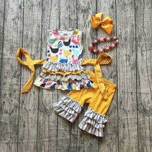 Girl's Spring Chick Outfit, girl's clothing, MAK Kouture - MAK Kouture