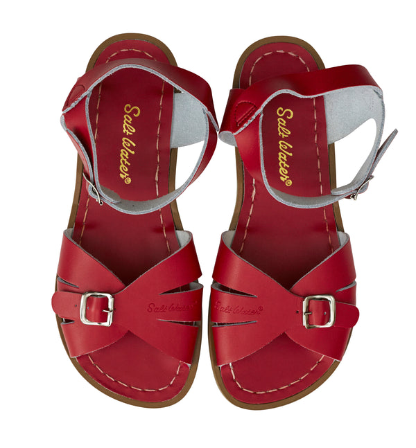 af82ac19a4074 SALT WATER CLASSIC ADULTS - RED | Billy Lou Kids Shoes