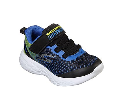 SKECHERS GO RUN 600 - BLACK BLUE LIME