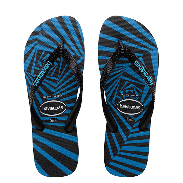 HAVAIANAS TOP 3D ADULT - BLACK TURQUOISE