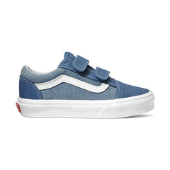 VANS OLD SKOOL YOUTH VELCRO - CHAMBRAY