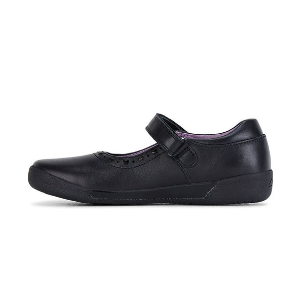 CLARKS BOW F FIT - BLACK