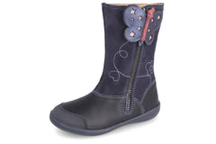 GARVALIN BUTTERFLY LONG BOOT  - NAVY