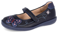 GARVALIN BUTTERFLY MARY JANE - NAVY