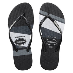 HAVAIANAS SLIM STRIPE (BLOCK) ADULT - BLACK