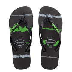 HAVAIANAS KIDS TROPICAL GLITCH - BLACK GREEN