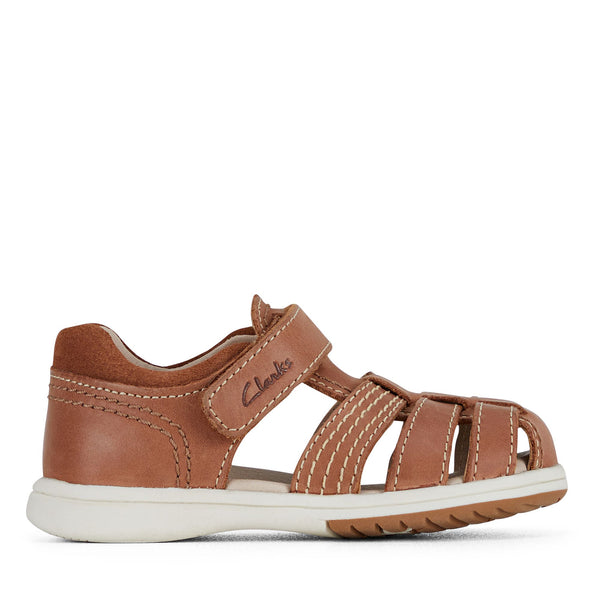 CLARKS KARL II E FIT - TAN