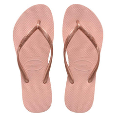 HAVAIANAS KIDS SLIM METALLIC - BALLET ROSE